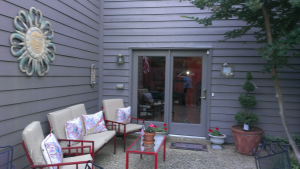 Judy and Bill's lovely patio at their new condo.