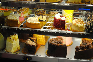 Fabulous cakes at City Cafe Diner.